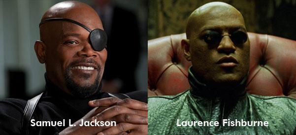 Sauel L. Jackson Laurence Fishburne Comparsisson